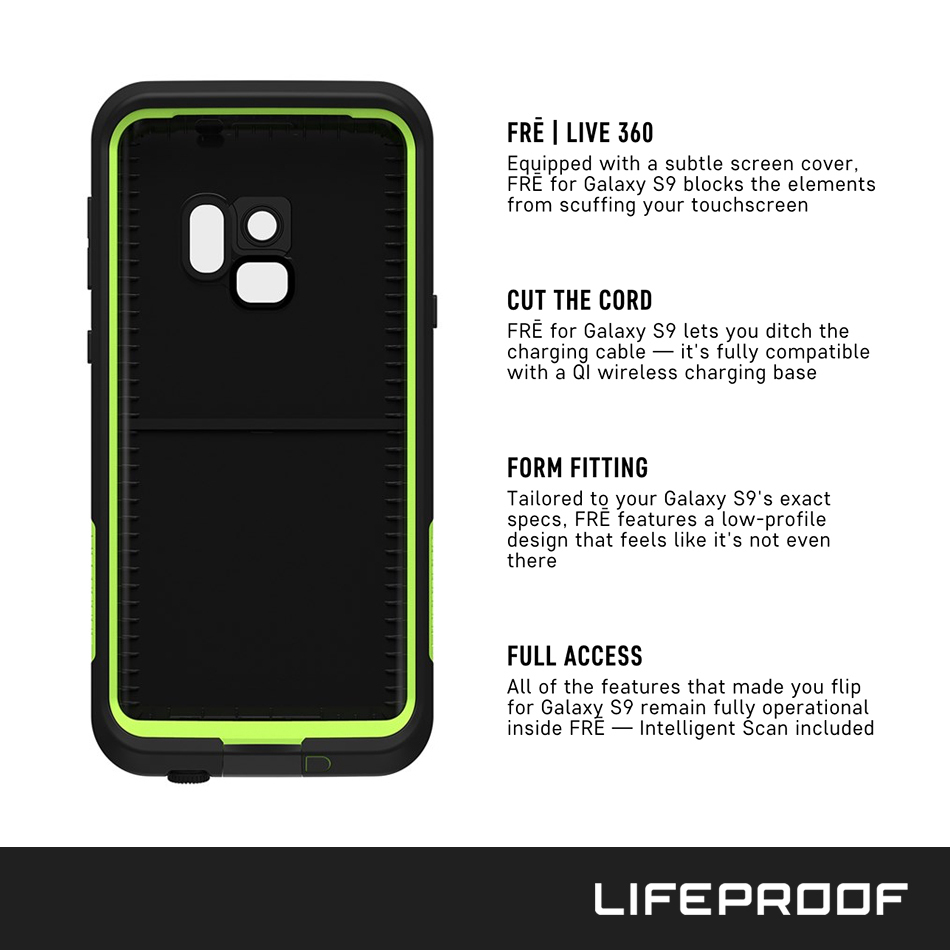 size 40 fb803 58b74 LifeProof Fre Waterproof Case for Samsung Galaxy S9 (Black)